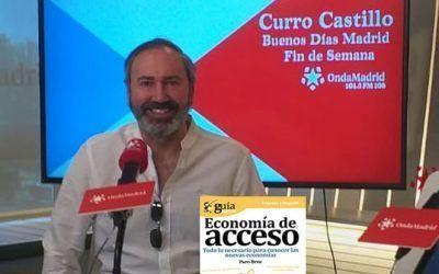 """El """"GuíaBurros: Economía de acceso"""" y su autor, Paco Bree, en """"Buenos días Madrid Fin de Semana"""", en OndaMadrid"""